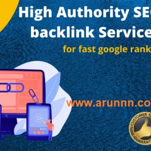 High Quality Backlinks for Google Rank - arunnn